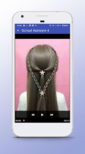 School Hairstyle – Video Step By Step Offline 1.0 APK Mod for Android 3