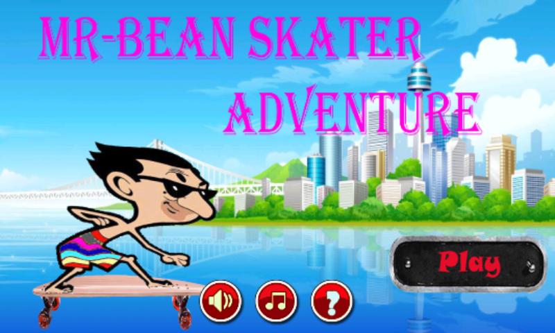 android Mr-Bean Skater Adventure Screenshot 0
