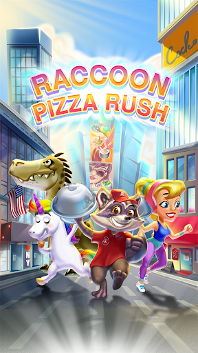 Raccoon Pizza Rush - screenshot