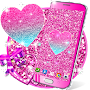 Pink glitter live wallpaper APK icon
