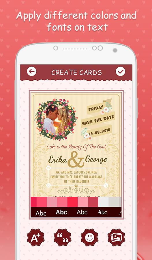 Wedding invitation cards android apps on google play wedding invitation cards screenshot stopboris Choice Image