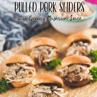 Pulled Pork Sandwiches with Creamy Mushroom Sauce.