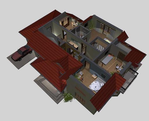 APS 089 - Rzut poddasza 3D