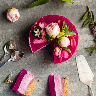 Pink Dragon Fruit Layer Cake