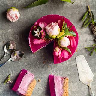 Pink Dragon Fruit Layer Cake.