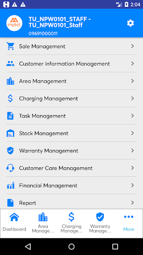 Mytel mBCCS 1.0.121 (21) Release-bur2 screenshots 2