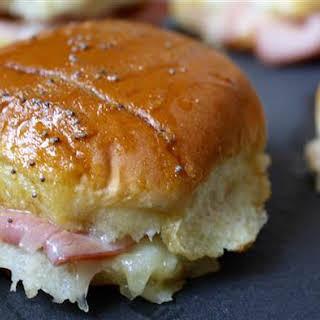 Ham and Cheese Sliders with Honey Mustard.