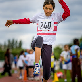 Banzai ! by Pascal Bénard - Sports & Fitness Other Sports ( girl, long jump, athletism, active, running, runner, bani-bands, Bani Bands - RUNNERS Challenge )