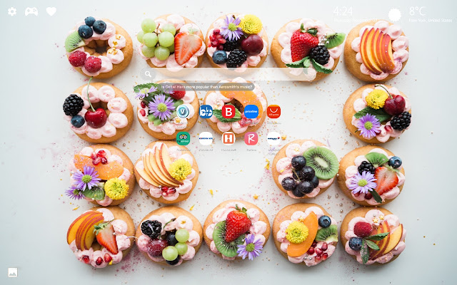 Delicious Pastry Wallpapers New Tab