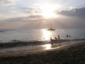 Photo: C1240013 O'ahu - Honolulu - zachod slonca na plazy