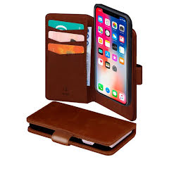 SiGN 2 in 1 Magnetic Wallet Case Iphone X/XS BROWN