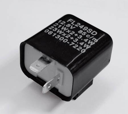 blinkersrelä 2poligt 12V 21W svart
