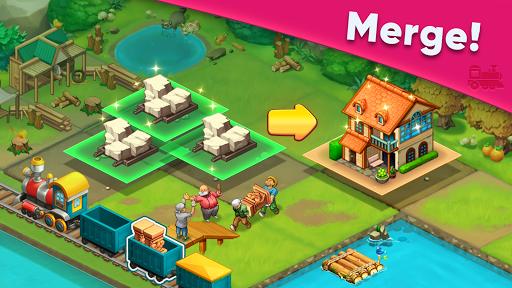 Merge train town: Merge Trees to create a My Home 1.1.09 screenshots 1