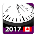 2017 Canada Calendar NoAds