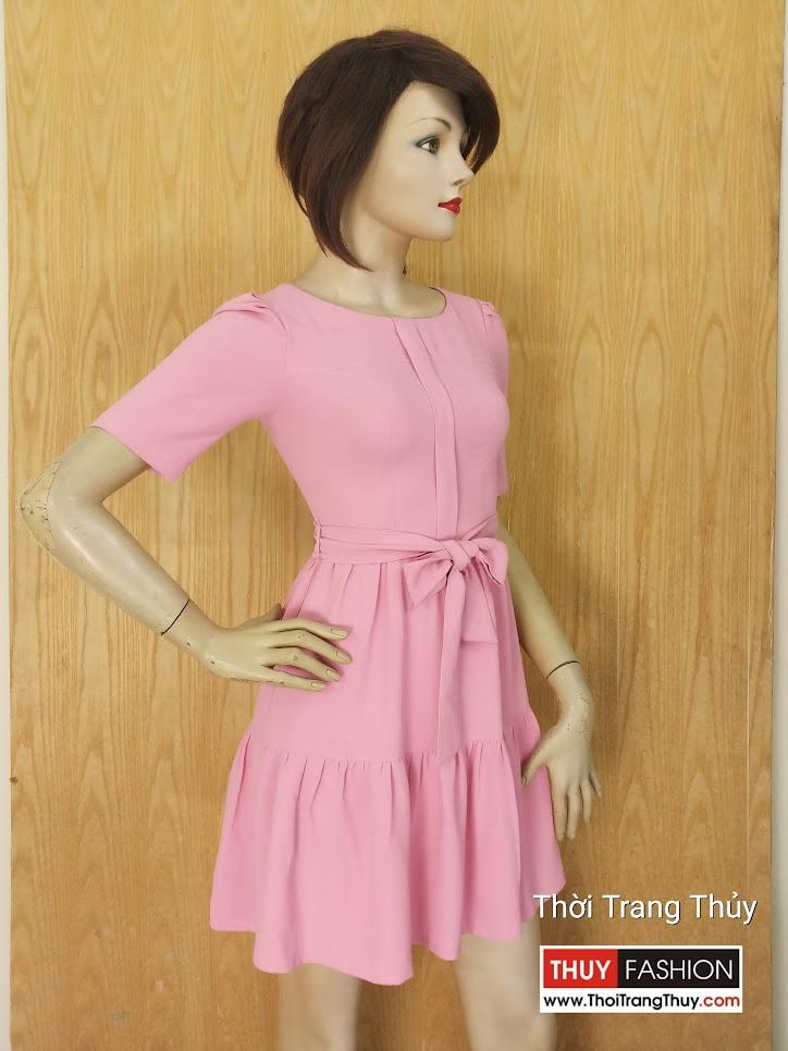 Váy xòe công sở thắt nơ đai eo V625 tại Thời Trang Thủy Hải Phòng