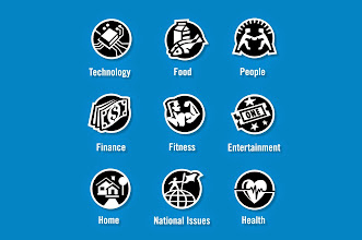 "Photo: General Icon Designs - ""Technology, Food, People, Finance, Fitness, Entertainment, Home, National Issues, Health"" - Custom Icons"