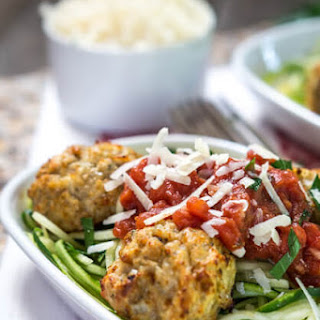 Julienned Zucchini Noodles with Chicken Meatballs