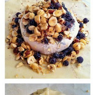 Blueberry Hazelnut Baked Brie