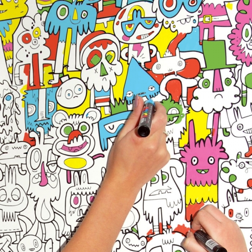 Photo: Burger Colour in Wallpaper available at Just Kids Wallpaper. www.justkidswallpaper.com