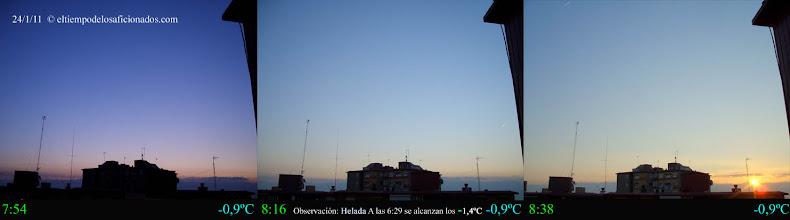 Photo: Amanecer del día 24/01/11