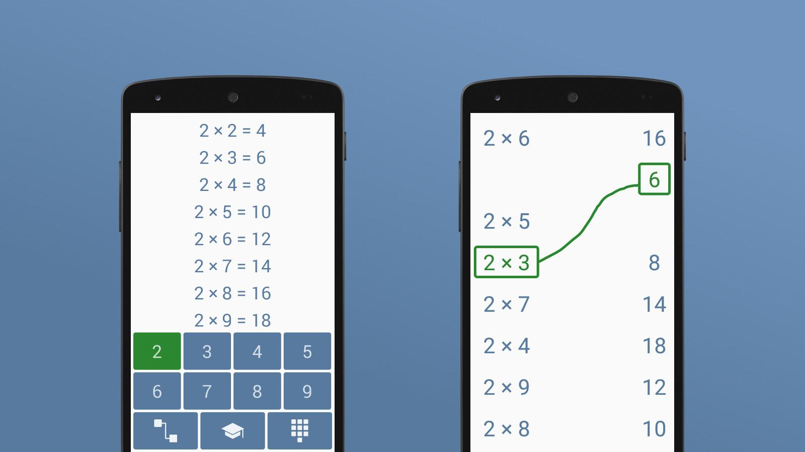 Multiplication table android apps on google play - Table de multiplication matou matheux ...