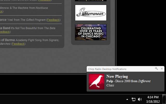 Chirp Radio Desktop Notifications