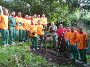 Photo: North Yorkshire - About 22 serving British Gurkhas from Gurkha Company, Nepalese community Catterick branch and volunteers from Richmond town took part to help clean the St Mary's Church Grave yard.