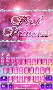 Pink Princess Diamond Galaxy Keyboard Theme- screenshot thumbnail