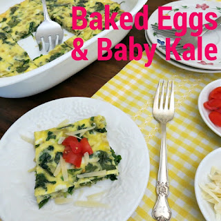 Baked Eggs with Baby Kale Recipe