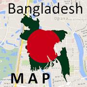 Bangladesh Dhaka Map