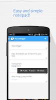Screenshot of Memo Widget (Note Widget)