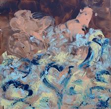 """Photo: """"Centaure"""", Lasure et acrylique sur toile. 80x80cm, carré."""
