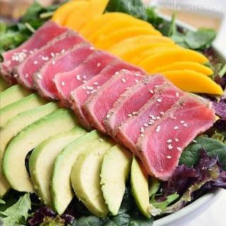 Seared Tuna Salad with a Miso Vinaigrette.