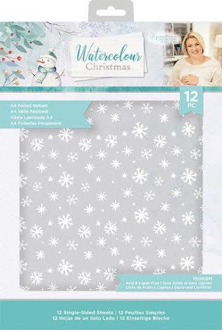 Sara Davies Vellum Pack A4 - Watercolour Christmas