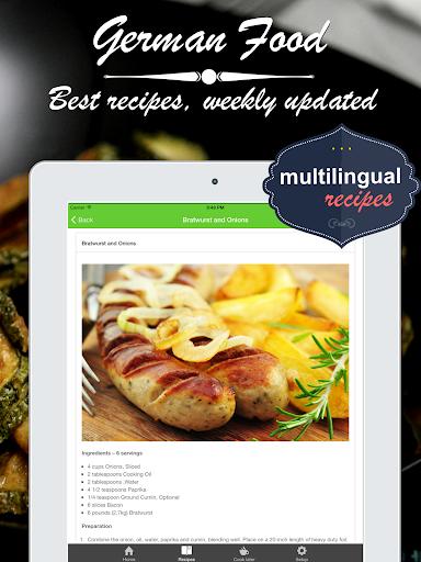 無料健康Appのドイツ料理 クックブック。クイックとベストレシピ&料理を調理 記事Game