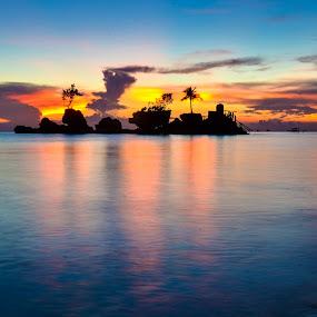 BORACAY SUNSET by Philip Familara - Landscapes Beaches (  )