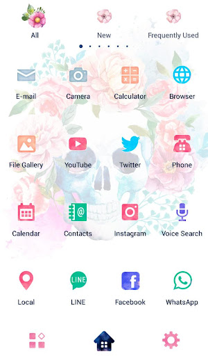 Skull Flowers Wallpaper Screenshot
