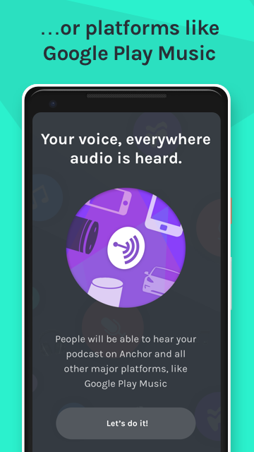 Anchor - Podcasting for everyone- screenshot