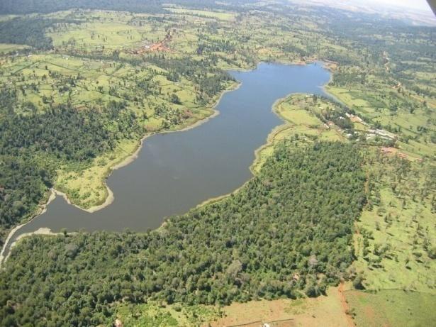 An aerial view of Chebara dam