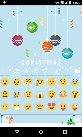 android Emoji Keyboard-First Snow Screenshot 2