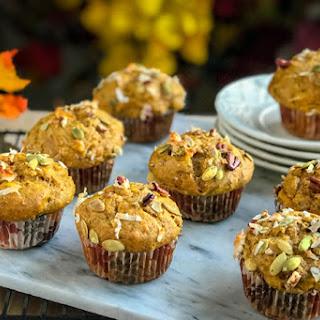 Coffee Shop Worthy Coconut Pumpkin Pecan Muffins Recipe