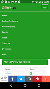 Confirmbets - Football Predictions by Experts - náhled