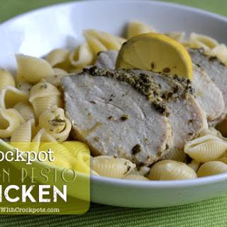 Crockpot Lemon Pesto Chicken