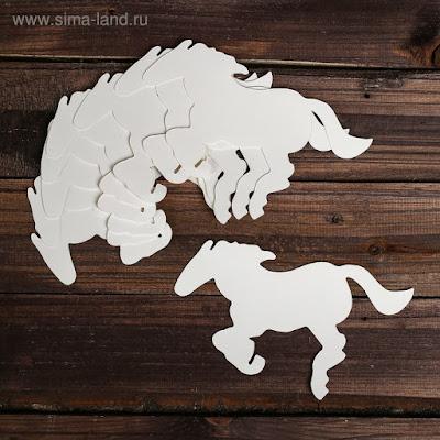 Основа для творчества и декора «Лошадь», набор 10 шт., размер 1 шт: 20,5×11 см