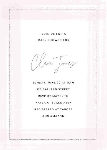 Clara Jones Baby Shower - Baby Shower Invitation template