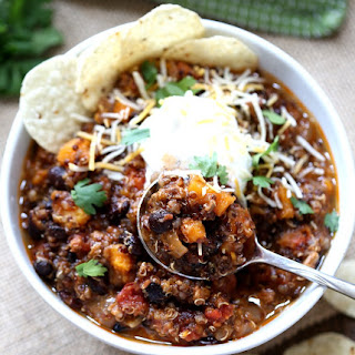 Slow Cooker Turkey, Black Bean and Sweet Potato Chili.