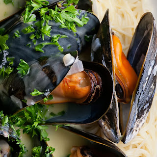 Mussels in Shallot Cream Sauce.