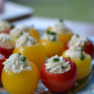 Herb Cream Cheese Stuffed Tomatoes.