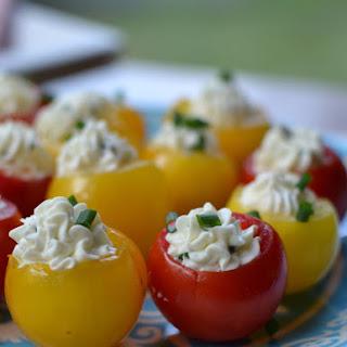 Herb Cream Cheese Stuffed Tomatoes.