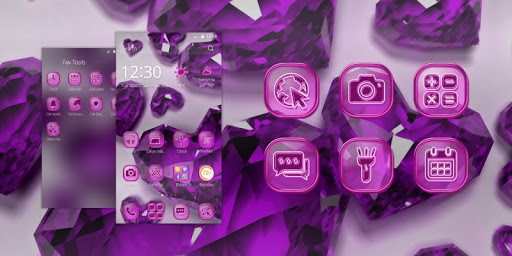 Purple Crystal Heart Theme